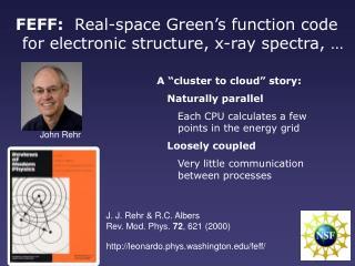 J. J. Rehr & R.C. Albers Rev. Mod. Phys.  72 , 621 (2000)