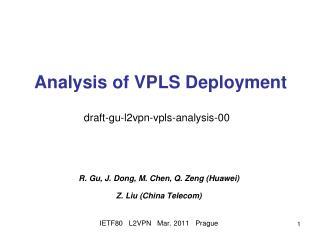 Analysis of VPLS Deployment