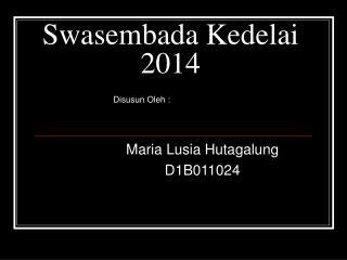 Swasembada Kedelai 2014