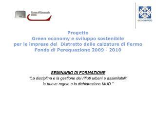 Progetto Green economy e sviluppo sostenibile