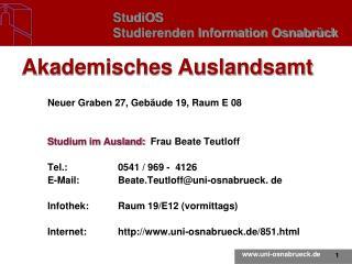 StudiOS Studierenden Information Osnabr�ck