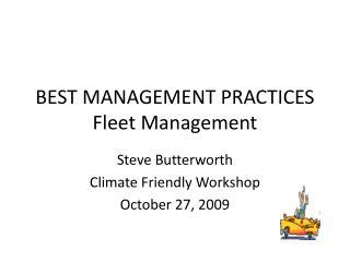 BEST MANAGEMENT PRACTICES Fleet Management