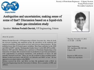 Society of Petroleum Engineers � Calgary Section Young Professionals November Luncheon