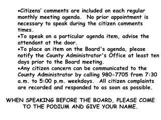 BOARD AGENDARegular Meeting PULASKI COUNTY    Monday, Nov. 24, 1997