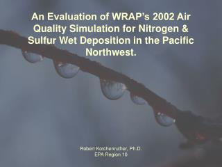 Why is it useful to look at model results for nitrogen & sulfur wet deposition?