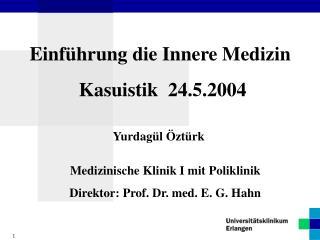 Einführung die Innere Medizin