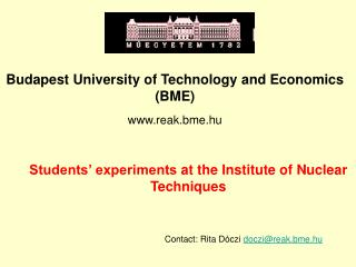 Students' experiments  at the Institute of Nuclear Techniques