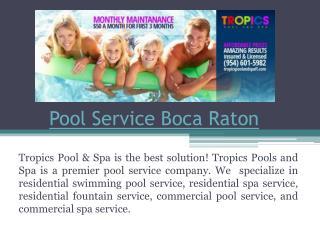 Pool Service Coral Springs