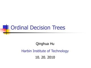 Ordinal Decision Trees