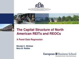 The Capital Structure of North American REITs and  REOCs A Panel Data Regression