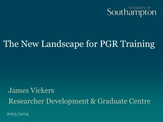 The New Landscape for PGR Training