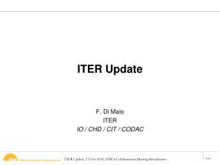 ITER Update