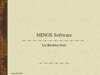 MINOS Software