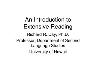 An Introduction to Extensive Reading