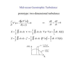 Mid-ocean Geostrophic Turbulence