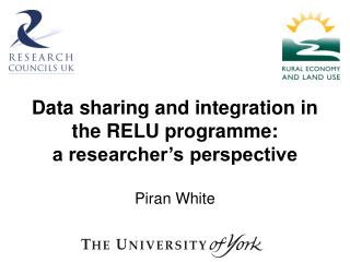 Data sharing and integration in the RELU programme: a researcher's perspective