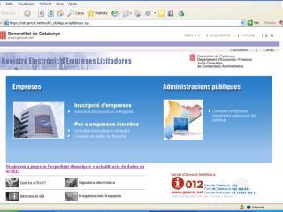 Registre  Electr�nic  d�Empreses  Licitadores (Reli)