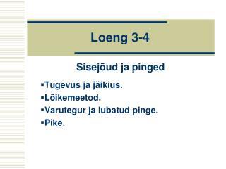 Loeng  3-4