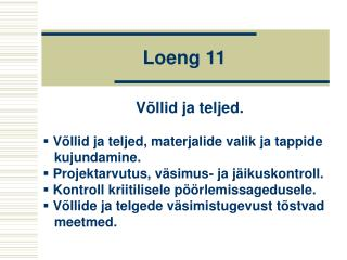 Loeng 11
