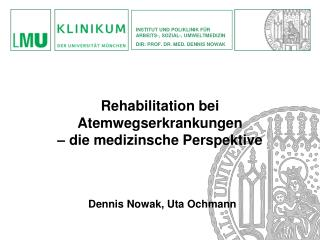 Dennis Nowak, Uta Ochmann