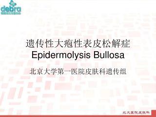 遗传性大疱性表皮松解症 Epidermolysis Bullosa