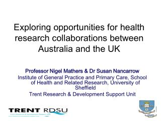 Exploring opportunities for health research collaborations between Australia and the UK