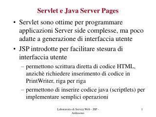 Servlet e Java Server Pages