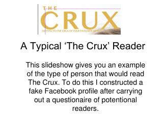 A Typical 'The Crux' Reader