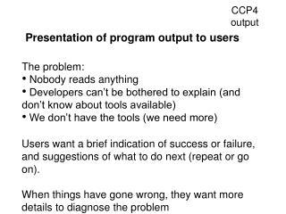 CCP4 output
