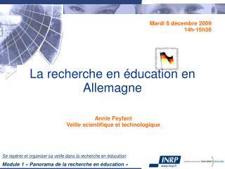 La recherche en éducation en Allemagne