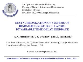DESYNCHRONIZATION OF SYSTEMS OF  HINDMARSH-ROSE OSCILLATORS  BY VARIABLE TIME-DELAY FEEDBACK
