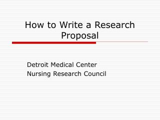 Research proposal powerpoint example