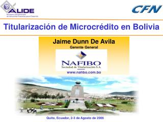 Jaime Dunn De Avila Gerente General nafibo.bo