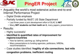 PingER Project