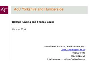 AoC Yorkshire and Humberside