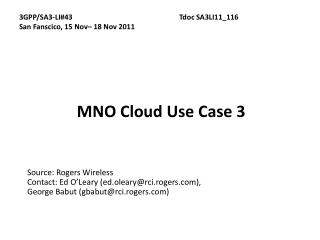 MNO Cloud Use Case 3