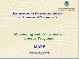 MAPP Marcos C. Holanda marcosholanda2@gmail