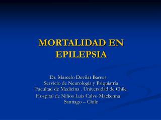 MORTALIDAD EN EPILEPSIA