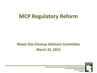 MCP Regulatory Reform
