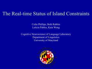 The Real-time Status of Island Constraints