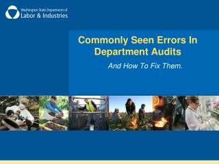 Commonly Seen Errors In Department Audits