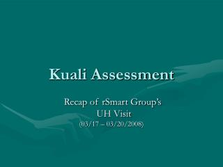 Kuali Assessment