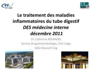Le traitement des maladies inflammatoires du tube digestif DES médecine interne  décembre 2011