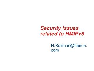 Security issues related to HMIPv6