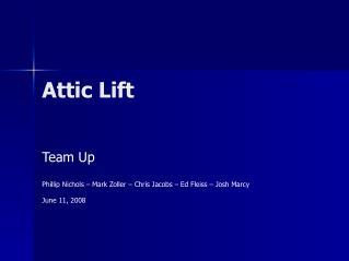 Attic Lift