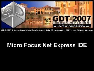 Micro Focus Net Express IDE
