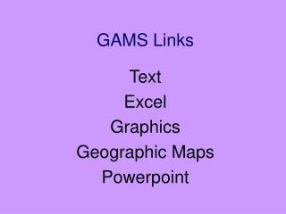 GAMS Links