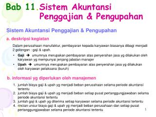 Bab 11 . Sistem Akuntansi Penggajian & Pengupahan