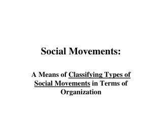 Social Movements: