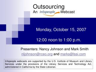 Outsourcing An                      Webcast